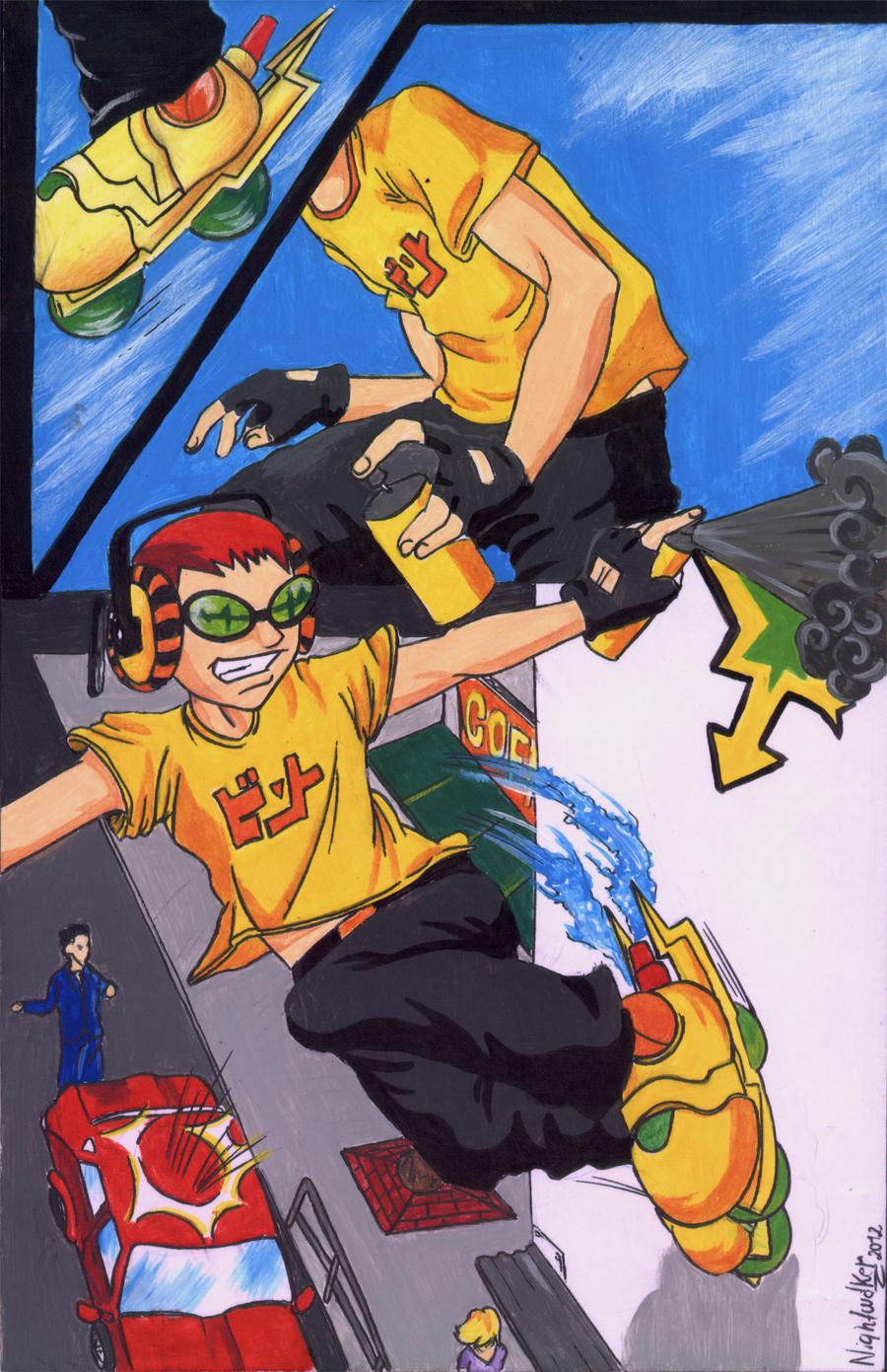 Jet Set Radio Manga Version